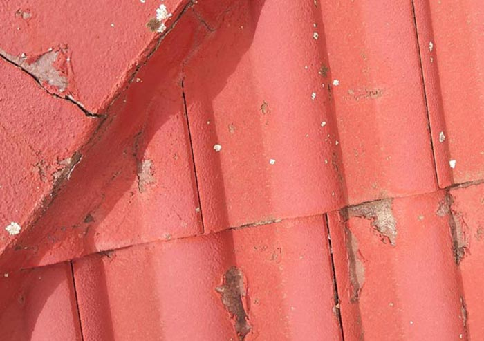 example of failed roof coating