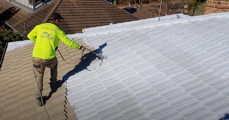 roof painting primer coat oz-roof